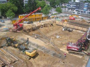 Baugrube der Centererweiterung